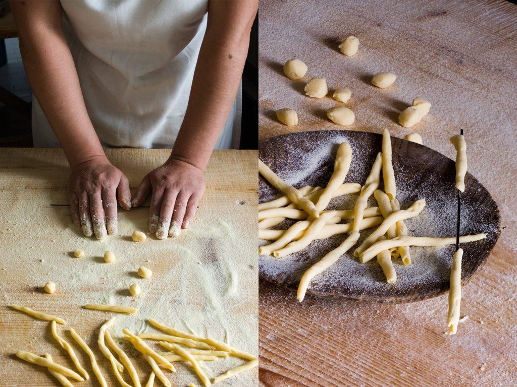 Giovanni Pilu, sardischer Restaurantbesitzer und Chefkoch in Sidney, macht Maccarones de blusa