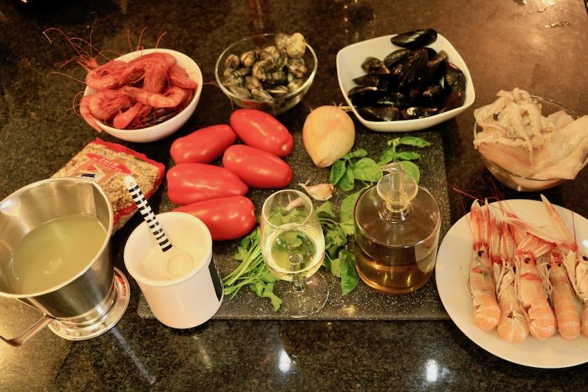 Fregola mit Meeresfrüchte (frutti di mare)