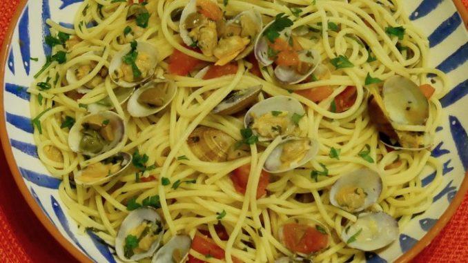 Spaghetti all'algherese, Spaghetti nach Art von Alghero