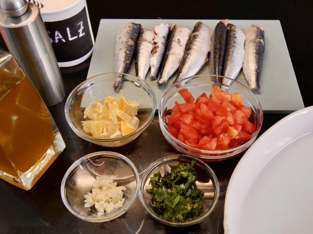 Zutaten Sardinen aus dem Ofen