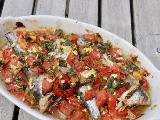 Sardinen aus dem Ofen