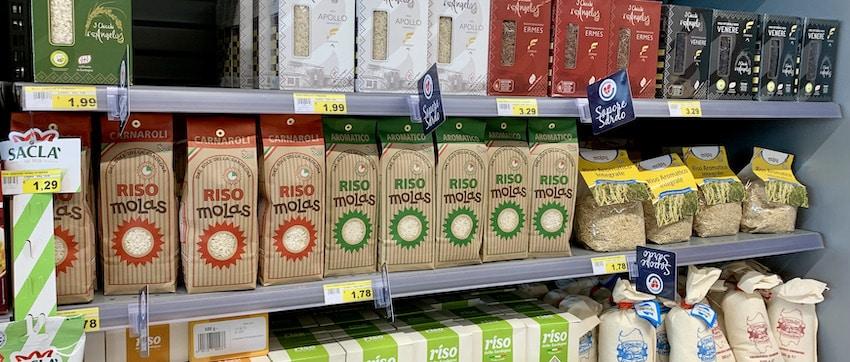 Auswahl von Reis aus Sardinien